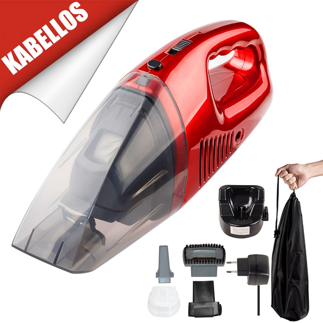 Aspiradora de mano 220 V 60 W handheld recargable Aspirador Auto ...