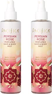 Pacifica Perfumed Hair and Body Mist Persian Rose, 2 Count