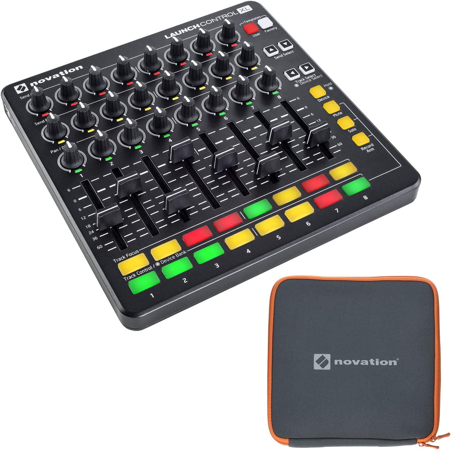 Novation Launch Control XL Black Cheap Max 49% OFF sale Bundle Sleev with Neoprene