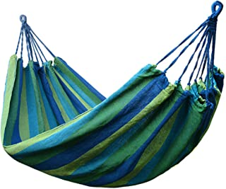 Amaca da campeggio, amaca da letto sospesa a righe in tela resistente e ispessita, amaca da esterno portatile con borsa, p...