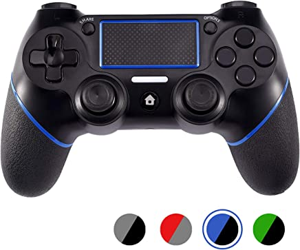 $29 » PS4 Controller Wireless ACGEARY Playstation 4 Gamepad with USB Cable,Compatible with PS4,PS4 Pro & PC (black&blue)