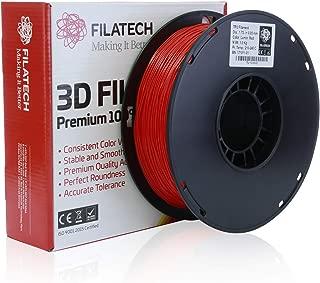 Filatech 3D Printing Flexible TPU Filament, 1.75 mm +/- 0.05 mm, 1.0 Kg Spool, 100% Virgin Material, Made in UAE (Lumin Red)