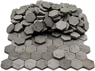 Sarina Crafts Hex Clay Brick Pavement Stones for Dollhouse Models and Military Dioramas (Gray)