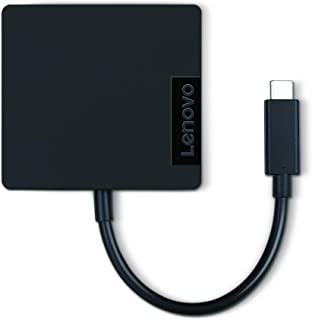 Lenovo USB-C 4 in 1 Travel Docking Station with HDMI, VGA, USB 3.0 and RJ45, 100% Compatible for Lenovo Yoga 920, Yoga 730 and Yoga 720 Laptops, GX90M61235