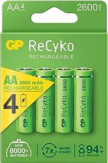 GP ReCyko + Paco 4 oplaadbare AA-batterijen uit de serie 2600, NiMH, min. 2600mAh