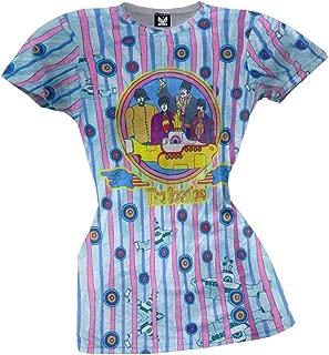 Beatles - Submarine Stripes All Over Juniors T-Shirt