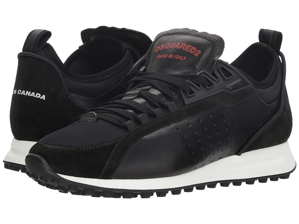 DSQUARED2 Neoprene Runner Sneaker (Black) Men