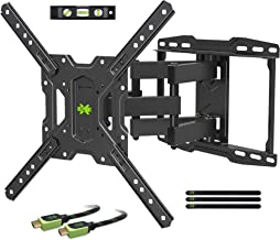USX MOUNT TV Wall Mounts TV Bracket for Most 32-65 inch Flat Screen TV/Mount Bracket, Full Motion TV Wall Mount with Swivel Articulating Dual Arms, Max VESA 400x400mm