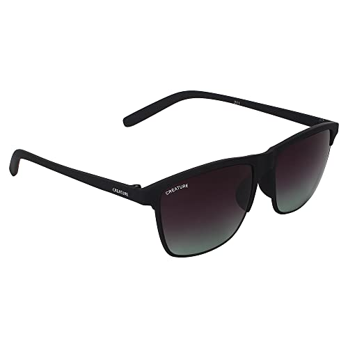 69ba2932464 CREATURE Matt Finish Club Master Wayfarer Uv Protected Unisex Sunglasses(Doit-006