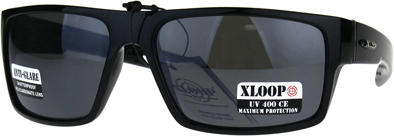 NEW X-LOOP MEN GENTS RECTANGULAR FRAME HD LENS DRIVING UV400 SUNGLASSES XL509HD