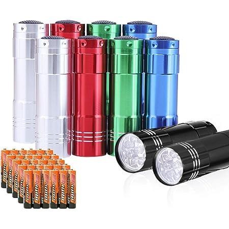 New Mini Aluminum 9 LED Bright Flashlight Torch Lamp Light for kids TM...