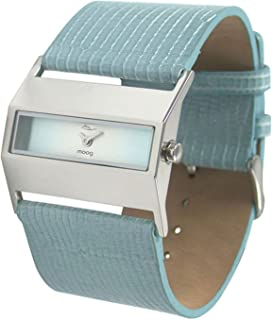 Moog Paris Hope Women's Watch with White/Blue/Pink/Black Dial, Silver/Blue/Pink/Red/White Strap in Genuine Leather