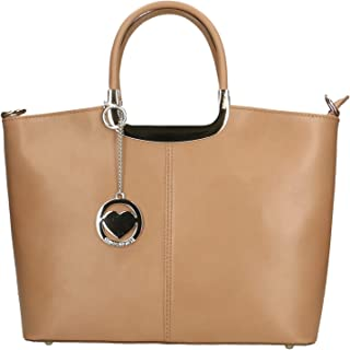 Chicca Borse Bag Borsa a Mano in Pelle Made in Italy 36x27x12 cm