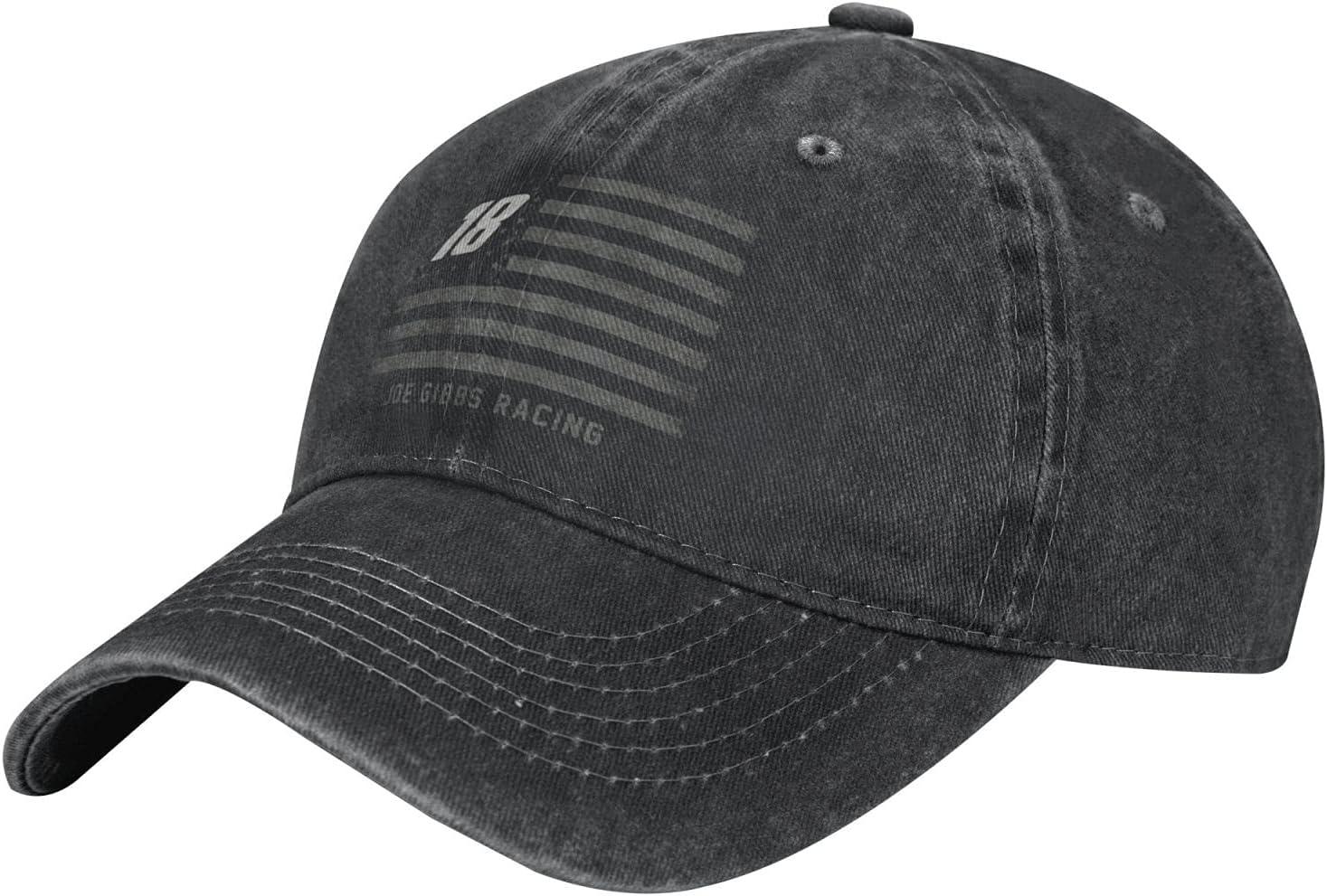 GAiNViEW Kyle Busch Denim Cap Adjustable Plain Baseball Cowboy Hat Cotton Sunbonnet Plain Hat Black