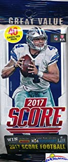 2017 Score NFL Football AWESOME Factory Sealed JUMBO FAT Pack with 40 Cards! Loaded with..