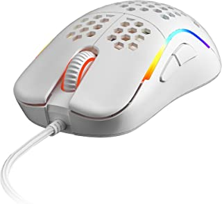 HK Gaming NAOS M Ultra Lightweight Honeycomb Shell Ambidextrous Wired RGB Gaming Mouse 12 000 cpi - 7 Buttons - 59 g (Nao...