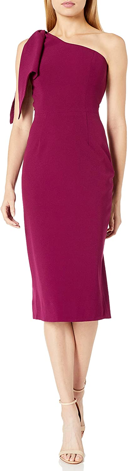 Dress the Population Women's Tiffany Shoulder Detail Nashville-Davidson Mall MID Max 65% OFF ONE Bow