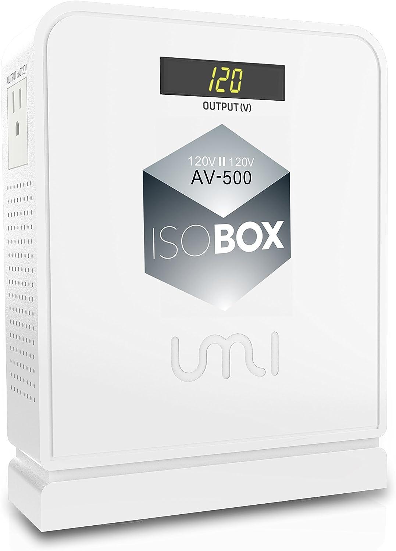 UMI Isolation Transformer 120V:120V Compact Power Line Conditioner 500Watts with Faraday Shielding/Eliminating EMI/RFI Noise (AV-500)