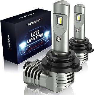 SEALIGHT 9005/HB3 LED Headlight Bulbs 150% Brightness 1:1 Halogen Size High Beams H10 Fog Lights 6000K Cool White Lighting Conversion Kit with Fan IP67