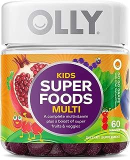 OLLY Kids Super Foods Gummy Multivitamin, 30 Day Supply (60 Count), Go Go Grape, Gummy Supplement, 10 Super Foods, Elderberry, Acai, Tamarind, Chewable Supplement