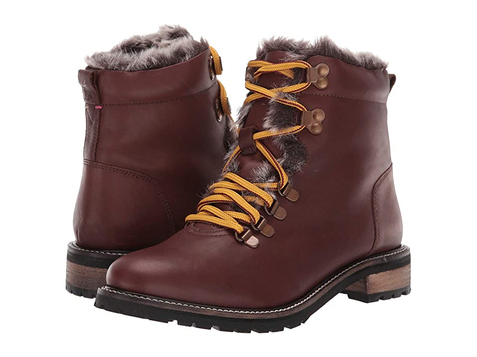 Joules Leather Hiker Boot (Chestnut) Women
