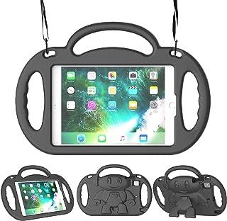 LEDNICEKER Kids Case for iPad Mini 1 2 3 4 5 - Light Weight Shockproof Handle Friendly Kids Case with Built-in Kickstand & Shoulder Strap for iPad Mini, Mini 5 (2019), Mini 4, Mini 3, Mini 2 - Black