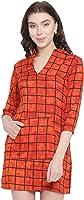 Abiti Bella Women's Rayon A-line Dress in Red
