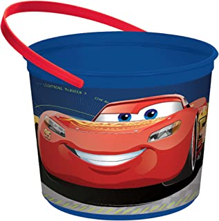 """amscan Disney Cars 3"""" Container, Party Favor One Size, Multicolor"""
