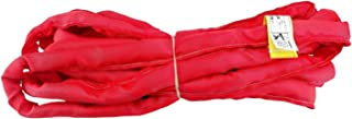 USA Made VR5 X 20' Red Slings 4'-30' Lengths in Listing, Double PLY Cover Endless Round Poly Lifting Slings, 13,200 lbs Vert, 10,560 lbs Choker, 26,400 lbs Basket (USA Polyester) (20 FT)