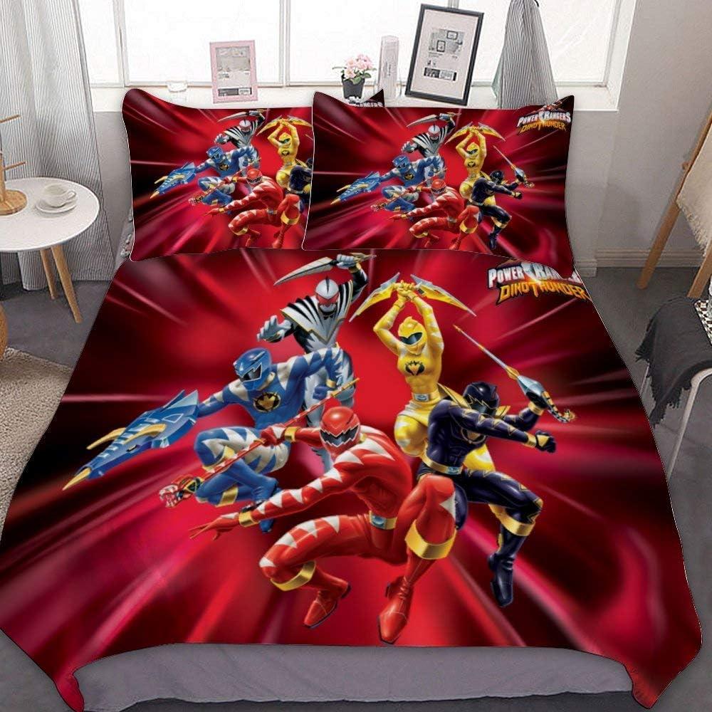 R1,135X200cm+50x75cmx2 3-teiliges Set AQEWXBB Coole Power Rangers Bettbezug,Super weich und bequem Anime-Fans hohe Qualit/ät
