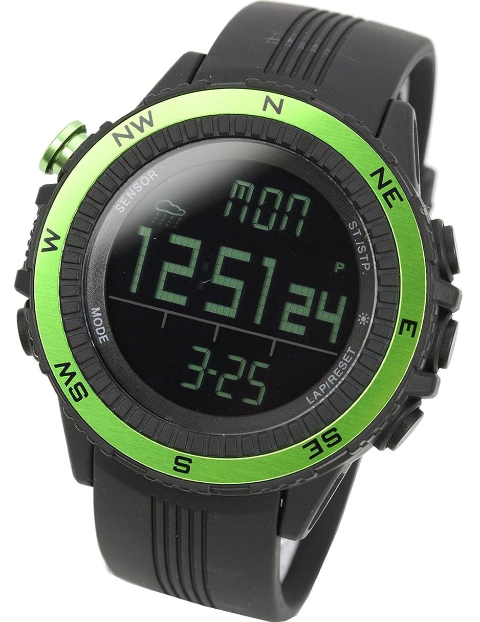 植物学雪の銀河[ラドウェザー]腕時計 ドイツ製センサー デジタル コンパス 高度計 気圧計 温度計 アウトドア時計