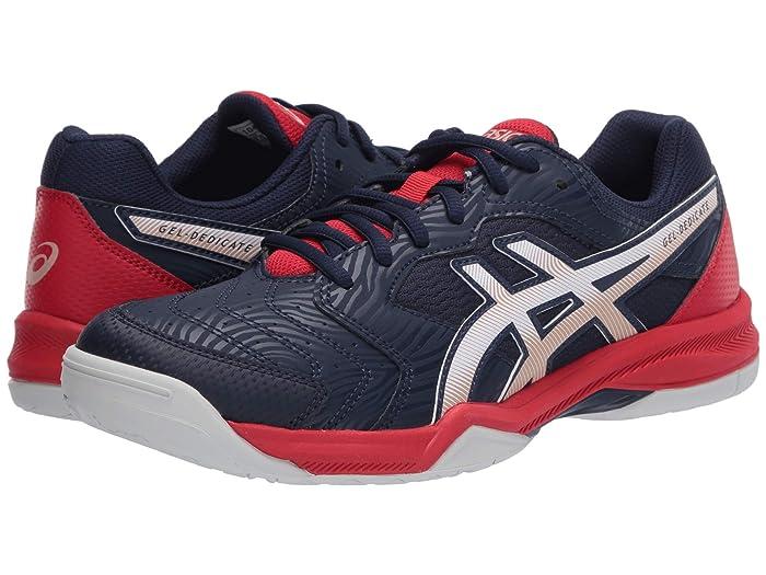 ASICS  GEL-Dedicate 6 (Peacoat/White) Mens Tennis Shoes