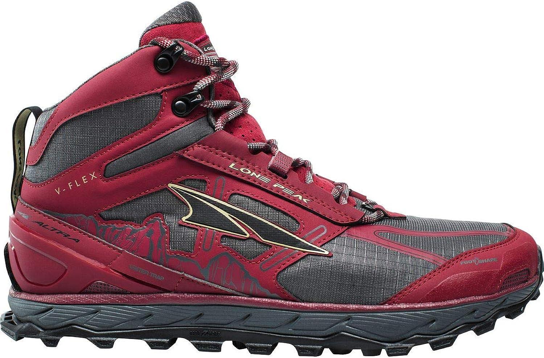 Altra herrar Lone Peak 4 Mid maska maska maska Trail springaning skor, röd - 11 D (M) USA  spara upp till 70% rabatt