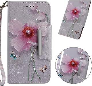 Bambus Panda Ahornblatt PU Leder Bling Strass Glitzer Tasche Brieftasche Flip Wallet Case Schutzh/ülle mit Kartenf/ächern SZHTSWU H/ülle f/ür Sony Xperia XZ2 Premium