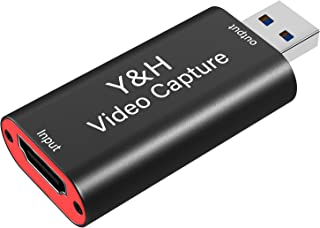 Y&H HDMI Audio Video Capture Card HD 1080P 60fps Record via DSLR,Camcorder,Action Cam,PS4,Xbox one,360,Wii U and Nintendo ...