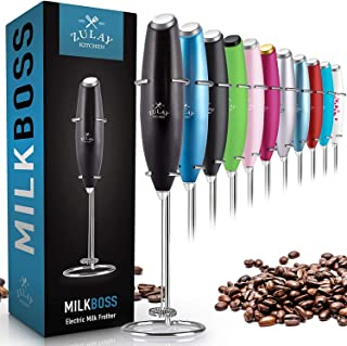 Zulay Original Milk Frother Handheld Foam Maker for Lattes – Whisk Drink Mixer for..