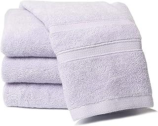 [Amazonブランド] Umi(ウミ)-フェイスタオル タオル 4枚セット 綿100% 瞬間吸水 速乾 柔らかい ふわふわ 抗菌 防臭 家庭/ホテル/スポーツなどに最適 赤ちゃん・敏感肌にも適用(パープル,72x32cm)