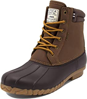 Nautica Mens Duck Boots - Waterproof Shell Insulated Snow Boot - Channing