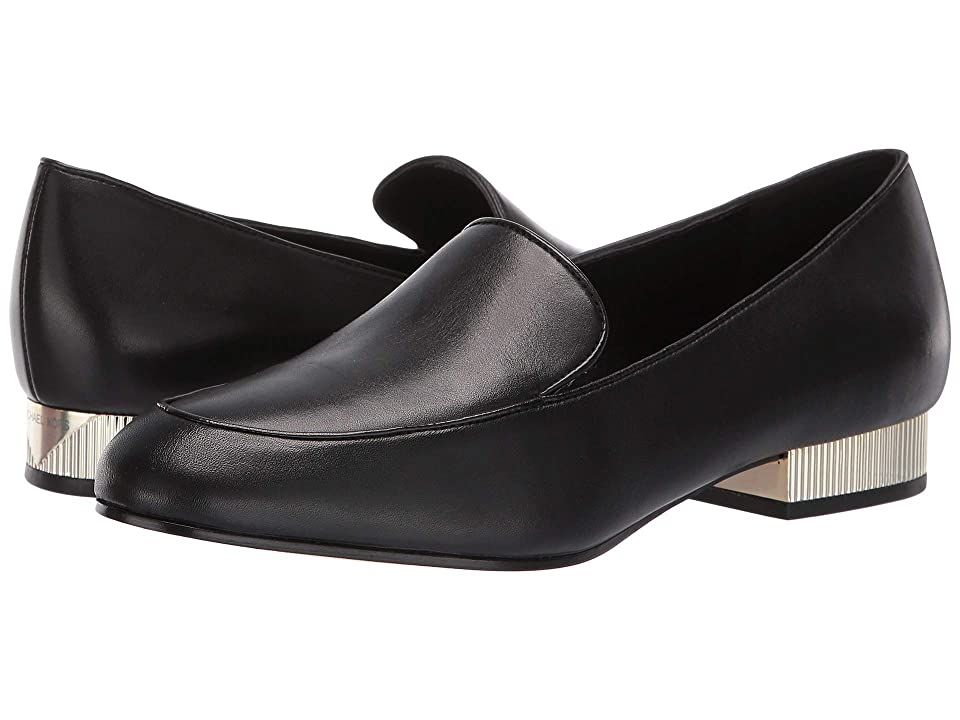 Image of MICHAEL Michael Kors Valerie Slip-On (Black Vachetta) Women's Slip on Shoes