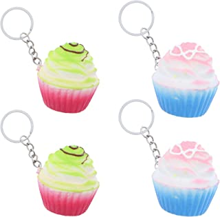 Cupcake Squishies with Keychain Kids Party Favor - Set of 4