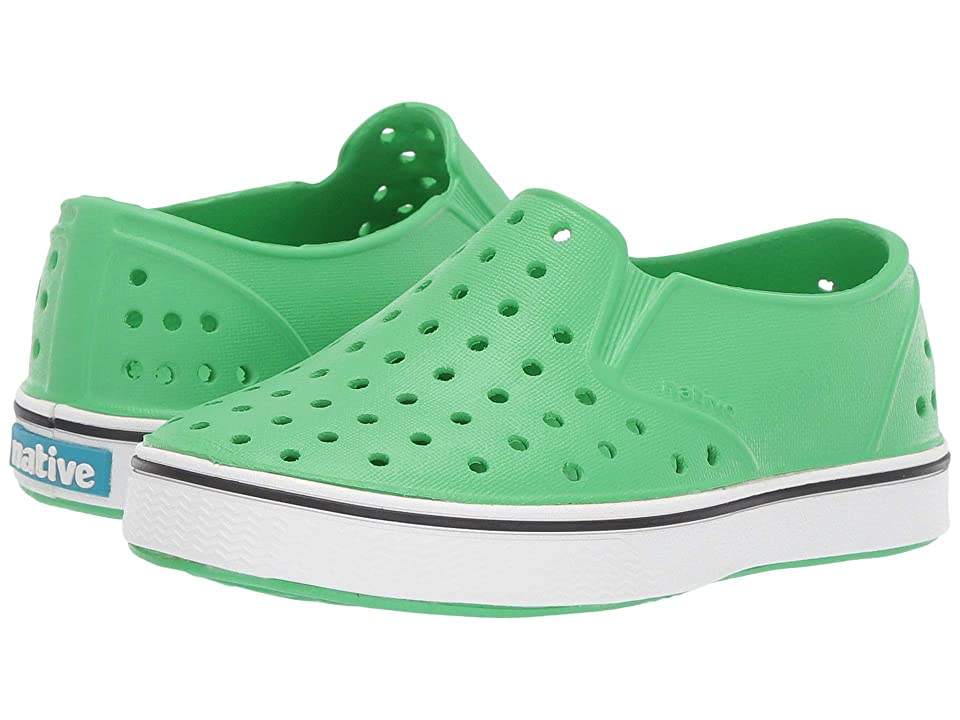 Native Kids Shoes Miles Slip-On (Toddler/Little Kid) (Grasshopper Green/Shell White) Kids Shoes