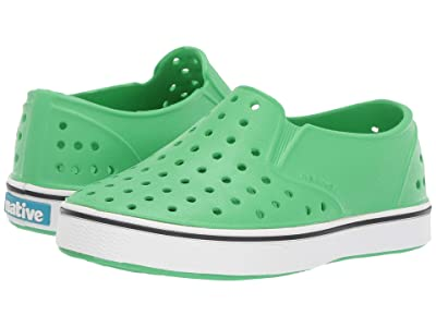 Native Kids Shoes Miles Slip-On (Toddler/Little Kid) (Grasshopper Green/Shell White) Kids Shoes
