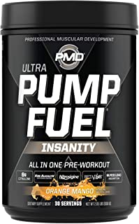 PMD Sports Ultra Pump Fuel Insanity - Pre Workout Drink Mix for Energy, Strength, Endurance, Muscle Pumps and Recovery - C...