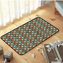 Indoor/Outdoor/Front Door/Bathroom Mats, Safety and Environmental Protection Decor Mats Catches Dirt Dust Snow & Mud, Triangle Geometric Shapes Lines - W15 x L23