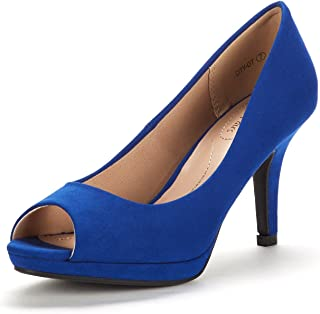 Women's City_ot Fashion Stilettos Peep Toe Pumps Heels Shoes