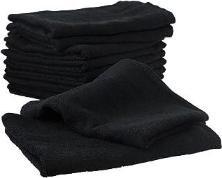 業務用 泉州 フェイスタオル 220匁 10枚セット ブラック 日本製 泉州タオル 瞬間吸水 速乾