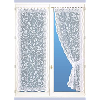 Homemaison bonne-Femme/ Poliestere 220/x 60/cm /Coppia di Tende a Pizzo Bianco