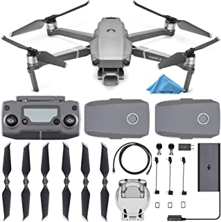 DJI Mavic 2 Pro Drone Quadcopter with Remote Controller, 2 Batteries, with 1-Year Warranty - Gray