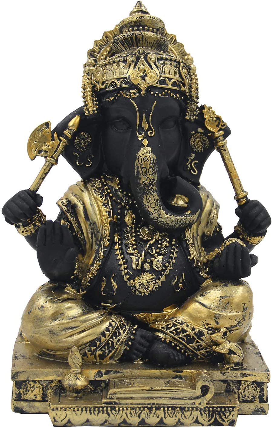 DharmaObjects Ganesh Ganesha Las Vegas Mall Manufacturer regenerated product Statue Gold INCHES 6.5