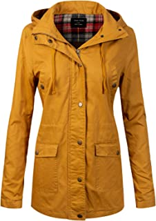 Design by Olivia Women's Anorak Safari Hoodie Jacket up to Plus Size